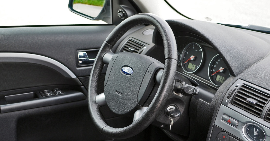 Interior view of a ford